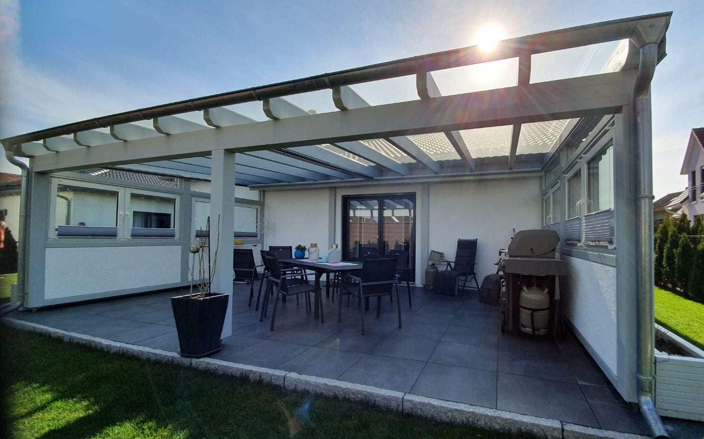 Projekt: Freiraumgestaltung Terrassenüberdachung Aurach